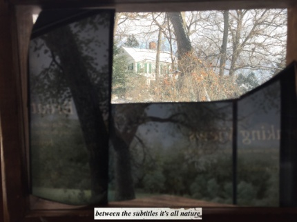 between the subtitles it's all nature